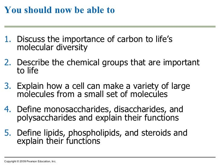 what is the role of carbon in the molecular diversity of life What is the role of carbon in the molecular diversity of life identify the functional groups listed in your text given an unknown organic molecule identify the alpha carbon, the carboxyl group.