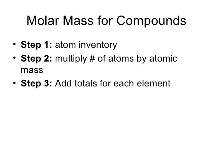 how to find molar mass from moles and mass
