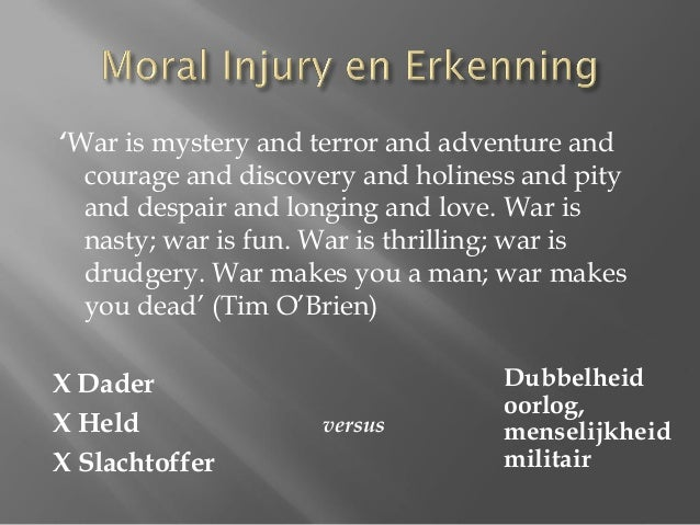 """moral injury War and moral injury [robert meagher] is 20% off every day at wipfandstockcom all royalties from the sale of this book are being donated to soldier's heart, wwwsoldiersheartnet  moral injury has been called the """"signature  ."""