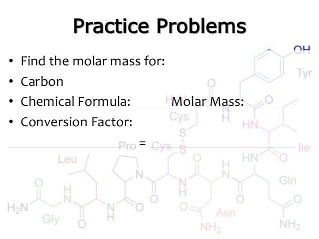 Moles and molar mass molar mass conversion factor 13 urtaz Gallery