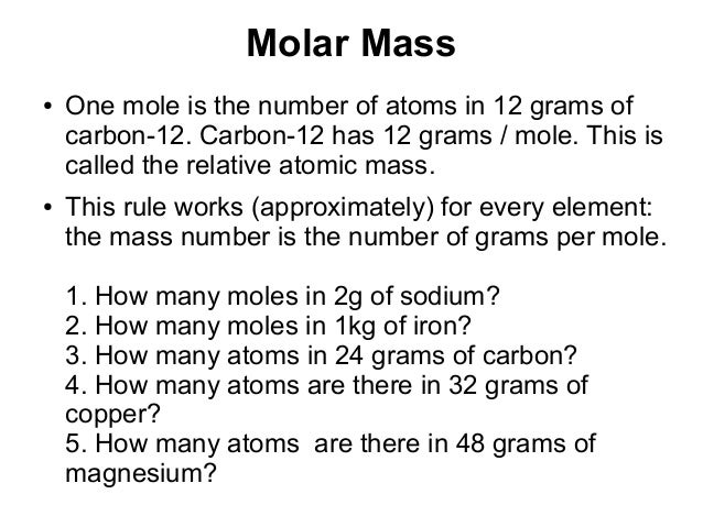 Moles Grade 10 – Grams Moles Calculations Worksheet