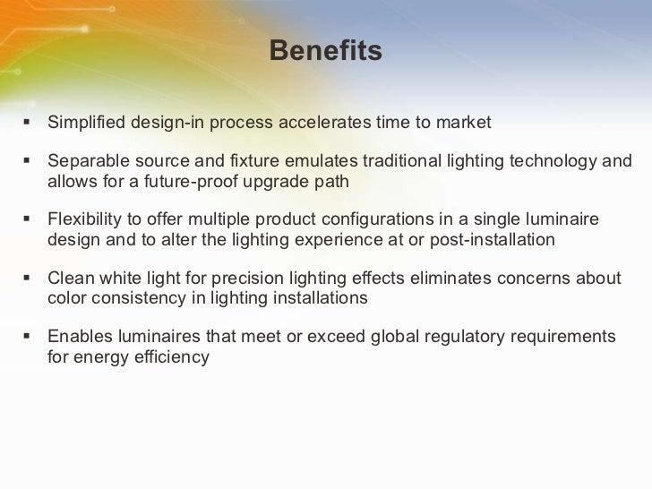 Benefits <ul><li>Simplified design-in process accelerates time to market </li></ul><ul><li>Separable source and fixture em...
