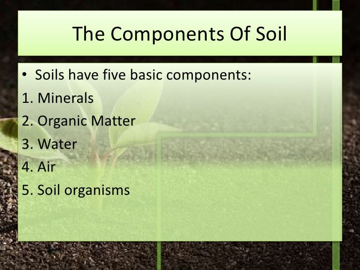 Soil microbiology and cycles of the elements for Mineral constituents of soil