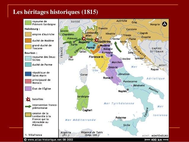 Les héritages historiques (1815)