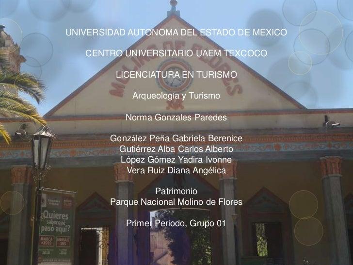 UNIVERSIDAD AUTONOMA DEL ESTADO DE MEXICO   CENTRO UNIVERSITARIO UAEM TEXCOCO         LICENCIATURA EN TURISMO             ...