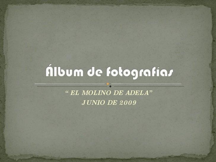 """"""" EL MOLINO DE ADELA"""" JUNIO DE 2009"""