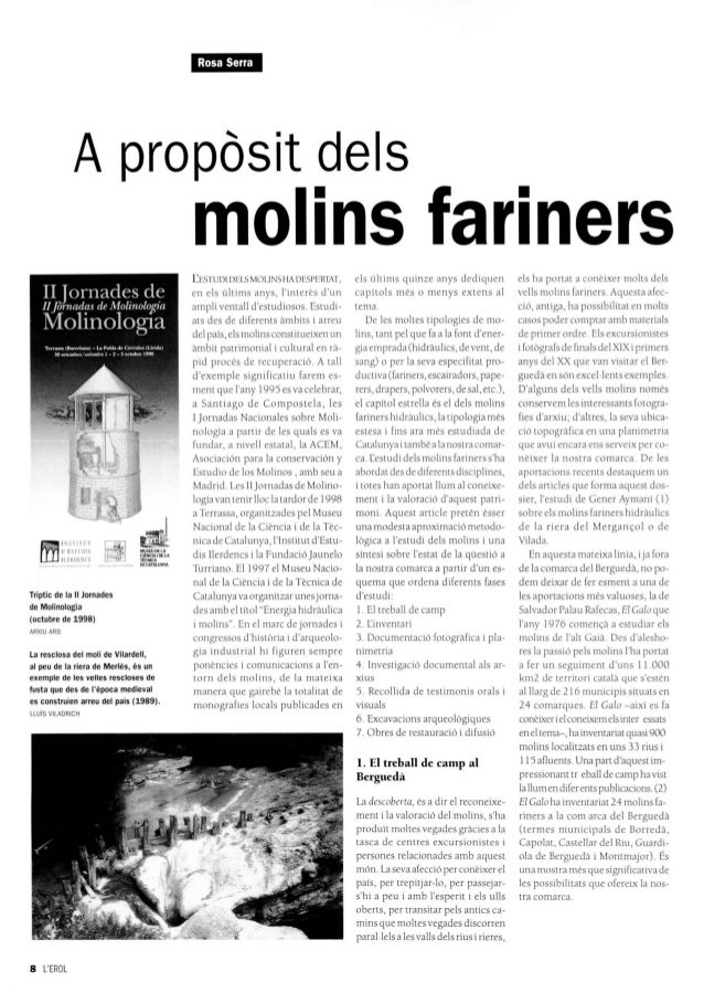 I¡Hi*iMkAproposit deisfñjI STITl TIl ESHOISILIMIllsesTríptic de la 11 Jornadesde Molinología(octubre de 1998)ARXIU ARBLa r...