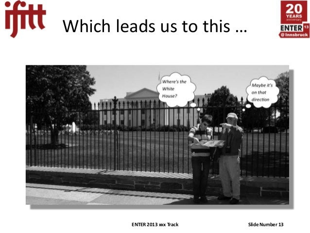 Which leads us to this …         ENTER 2013 xxx Track   Slide Number 13