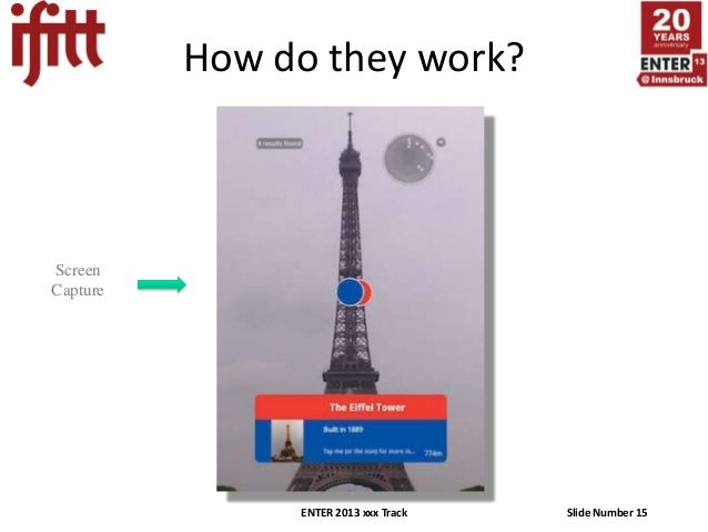 How do they work?ScreenCapture               ENTER 2013 xxx Track   Slide Number 15