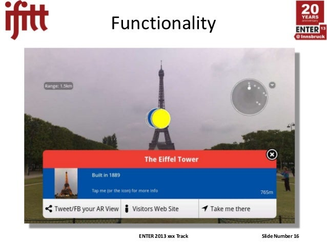 Functionality   ENTER 2013 xxx Track   Slide Number 16