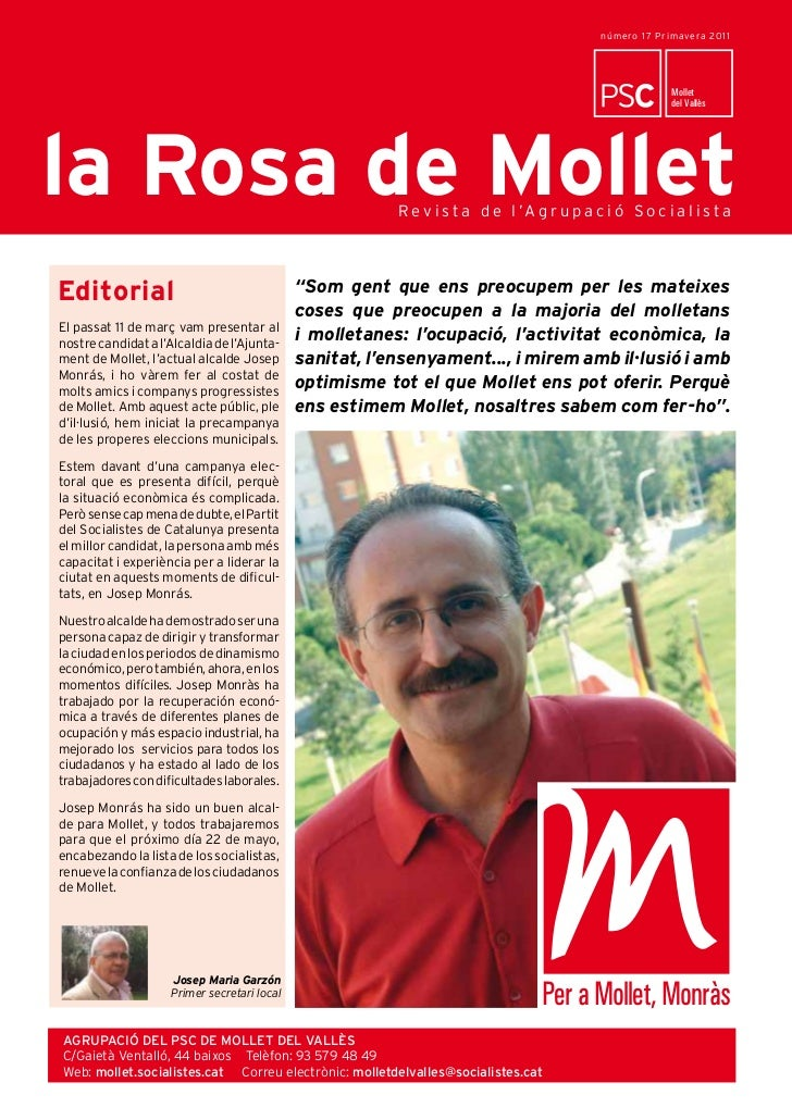 número 17 Primave ra 20 1 1                                                LaLa Rosa de Mollet                            ...