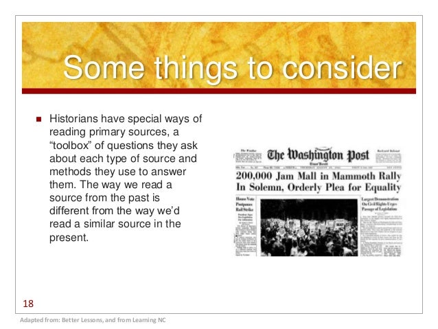 how to read a primary source