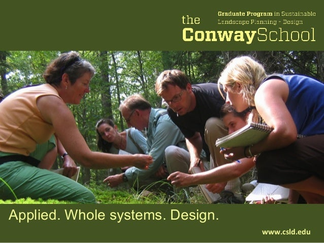 Applied. Whole systems. Design.www.csld.edu
