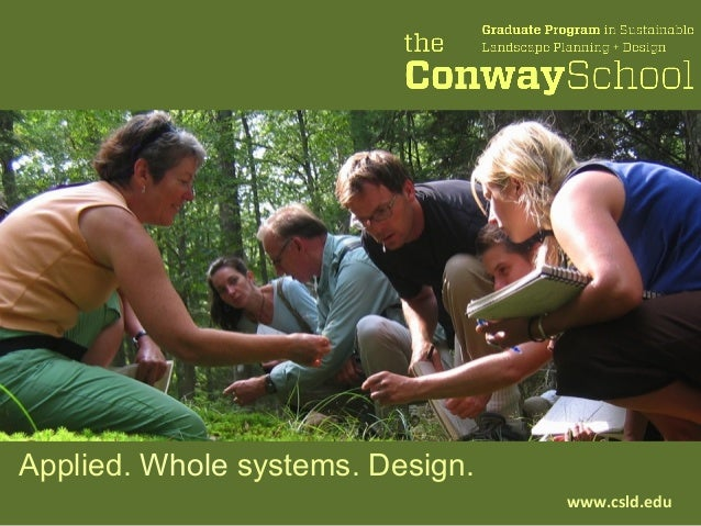 Applied. Whole systems. Design. www.csld.edu