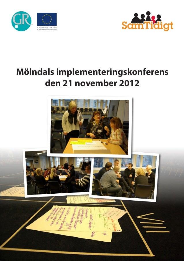 Mölndals implementeringskonferens den 21 november 2012