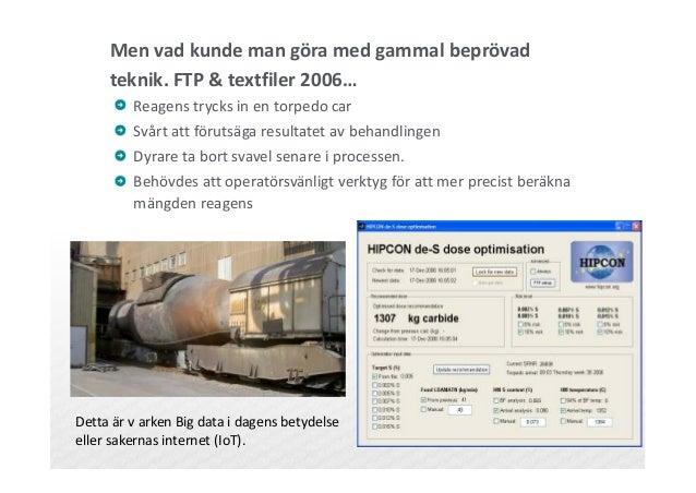 Men vad kunde man göra med gammal beprövad teknik. FTP & textfiler 2006… Reagens trycks in en torpedo car Svårt att föruts...