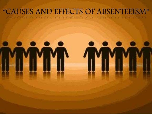 absenteeism reason