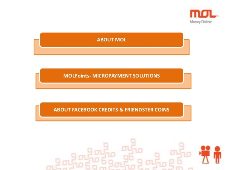ABOUT MOL   MOLPoints- MICROPAYMENT SOLUTIONSABOUT FACEBOOK CREDITS & FRIENDSTER COINS