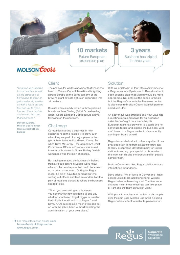 a strategic case study of coors Case study  intelligence (bi) tools to help shape, execute, and continually  redefine the company's strategic direction in all of these areas.