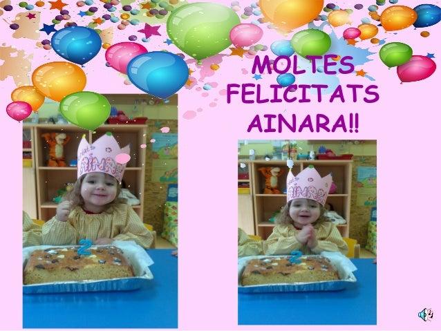 MOLTES FELICITATS AINARA!!