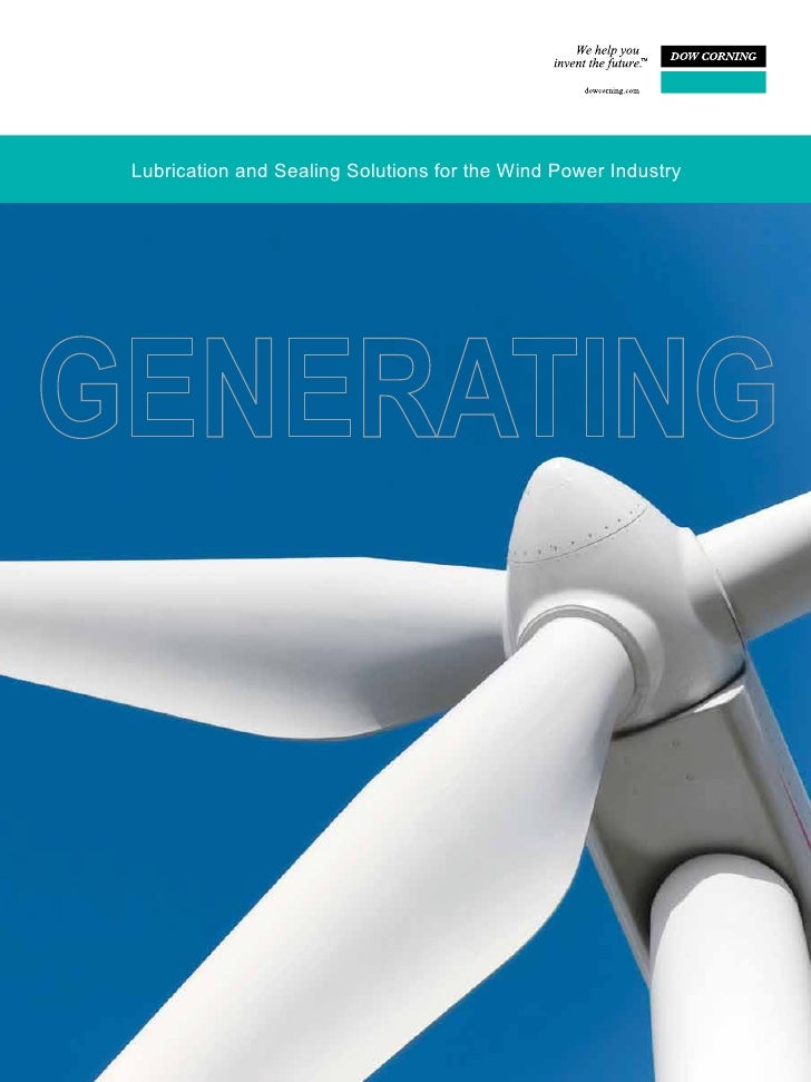 Lubrication and Sealing Solutions for the Wind Power Industry