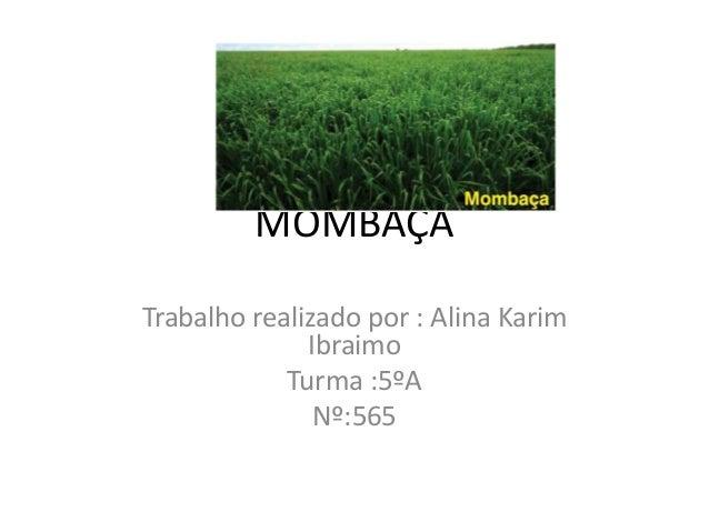 MOMBAÇA Trabalho realizado por : Alina Karim Ibraimo Turma :5ºA Nº:565