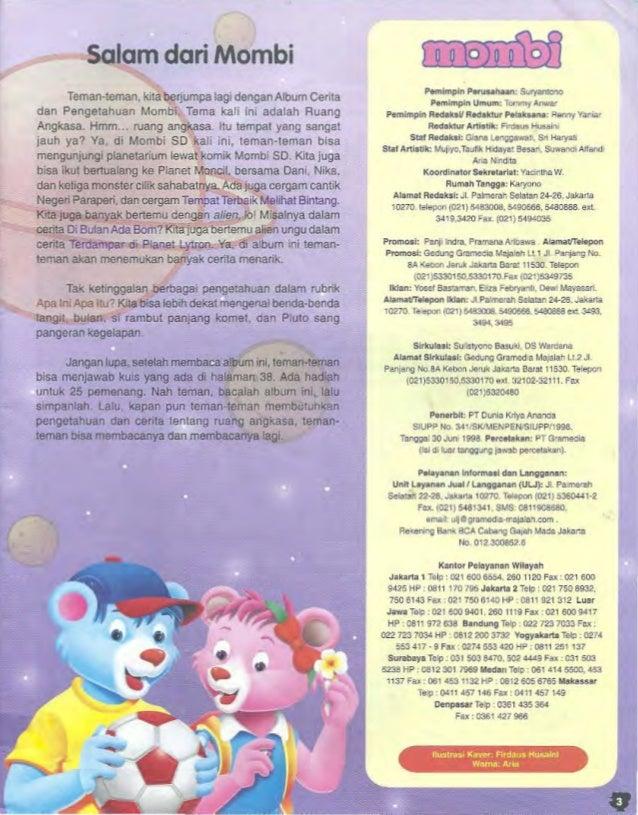 Mombi SD Vol 3 Tahun 2005 edisi Ruang Angkasa Slide 3