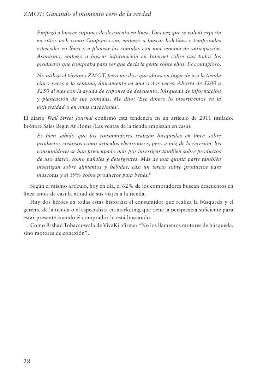 Capítulo 3: El ZMOT está en todas partes                                     29