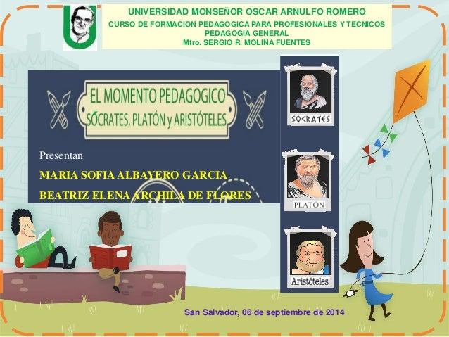 Presentan  UNIVERSIDAD MONSEÑOR OSCAR ARNULFO ROMERO  MARIA SOFIA ALBAYERO GARCIA  BEATRIZ ELENA ARCHILA DE FLORES  San Sa...