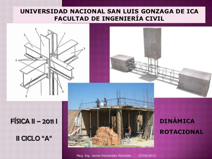 27/06/2011<br />Mag. Ing. Javier Hernández Muñante<br />UNIVERSIDAD NACIONAL SAN LUIS GONZAGA DE ICA<br />FACULTAD DE INGE...