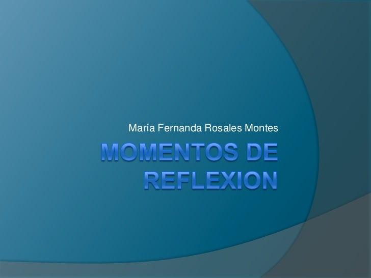 María Fernanda Rosales Montes