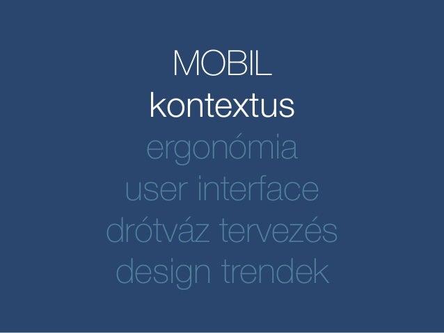 Mobil UX design Slide 2