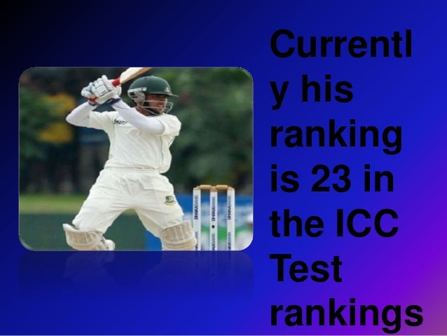 Mominul Haque The Little Master