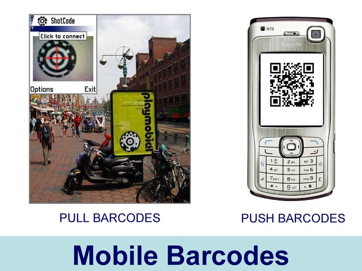 Mobile Barcodes PULL BARCODES PUSH BARCODES