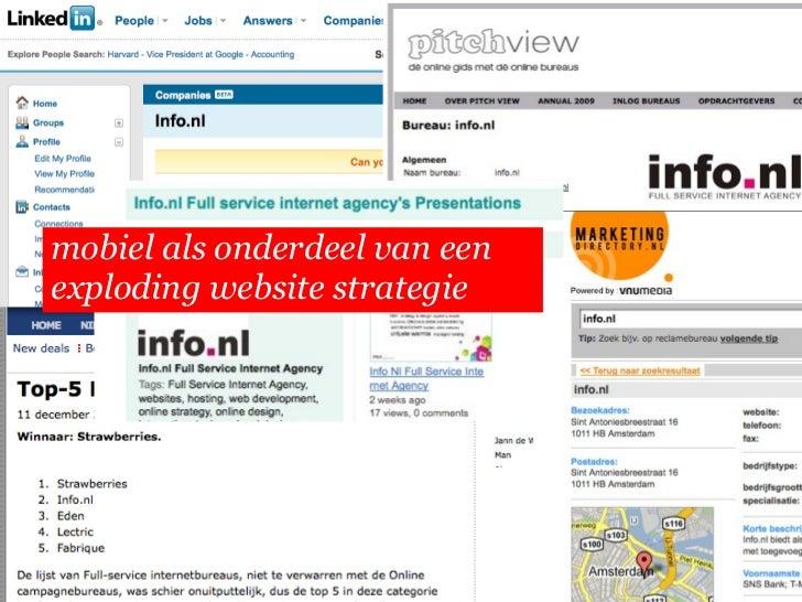 mobiel als onderdeel van een   exploding website strategie