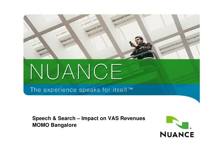 Speech & Search – Impact on VAS Revenues     MOMO Bangalore   1