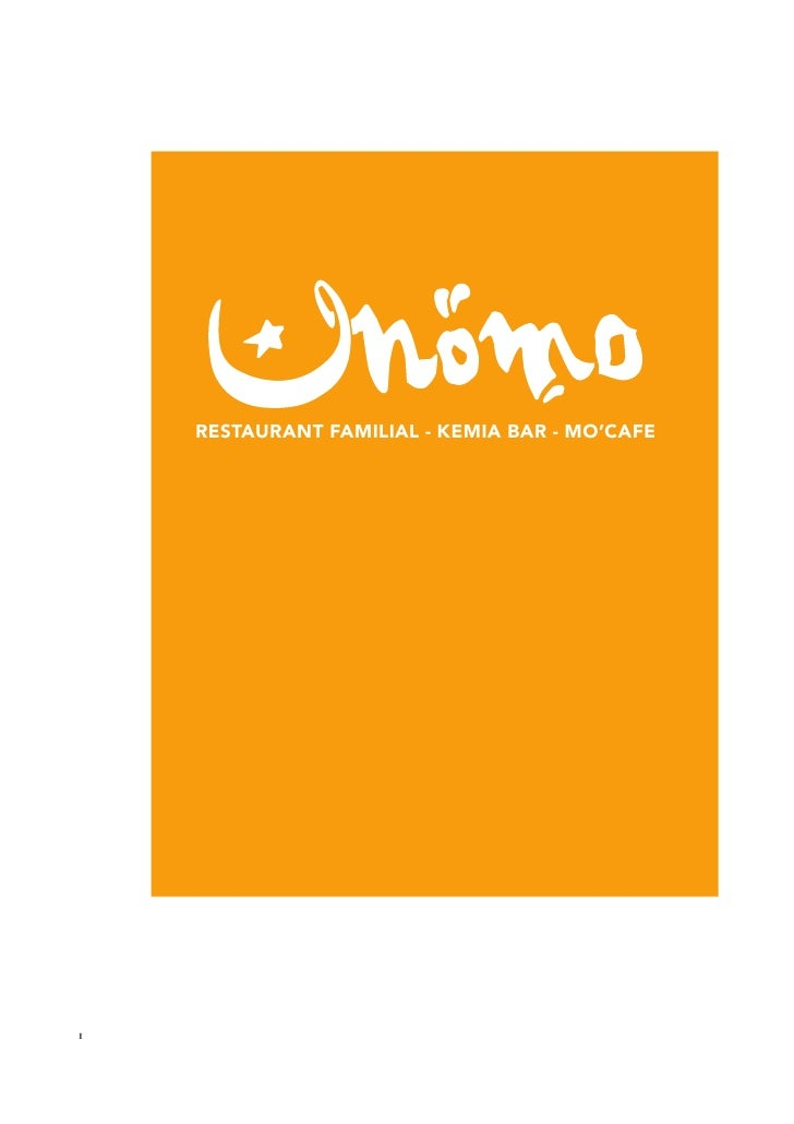 RESTAURANT FAMILIAL - KEMIA BAR - MO'CAFE     1