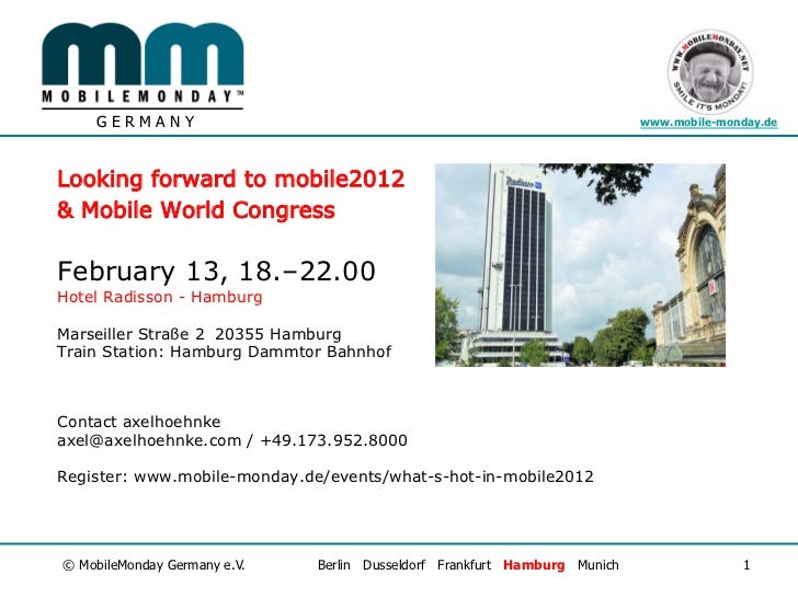 GERMANY                                                                www.mobile-monday.deLooking forward to mobile2012& ...