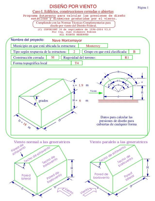 Memoria de calculo nave industrial 1 - Barlovento y sotavento ...