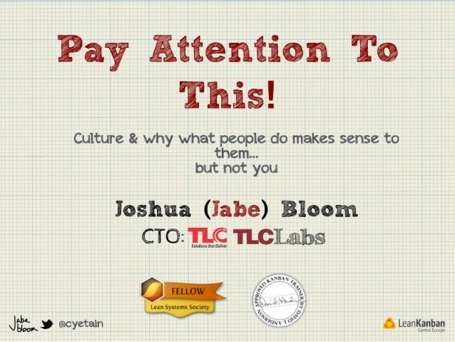 Jabe Bloom: Pay attention to this! - LKCE13