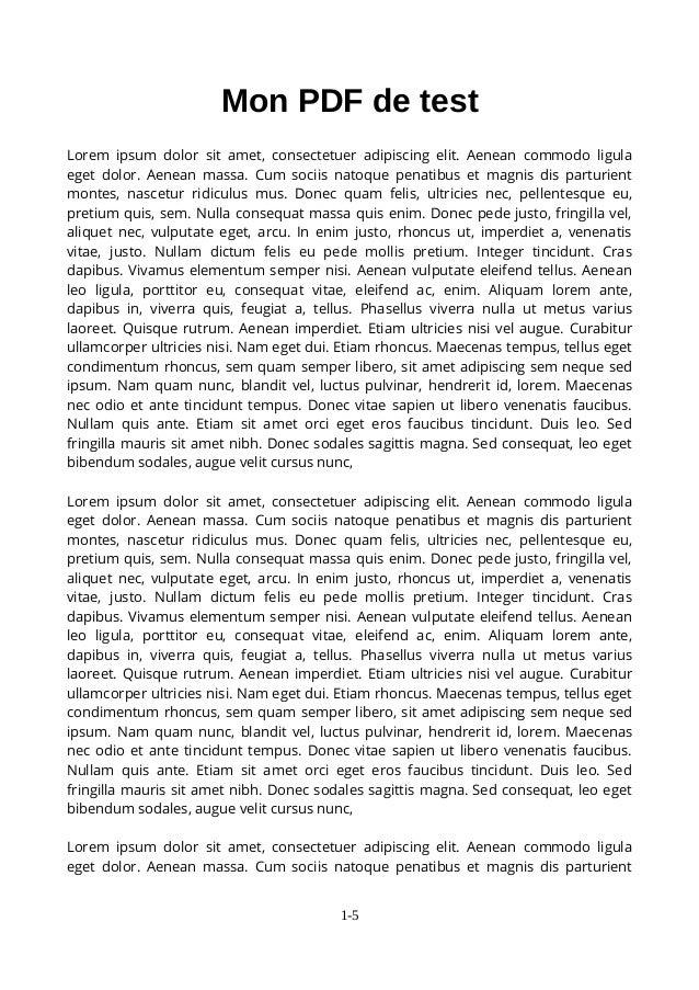 Mon PDF de test Lorem ipsum dolor sit amet, consectetuer adipiscing elit. Aenean commodo ligula eget dolor. Aenean massa. ...