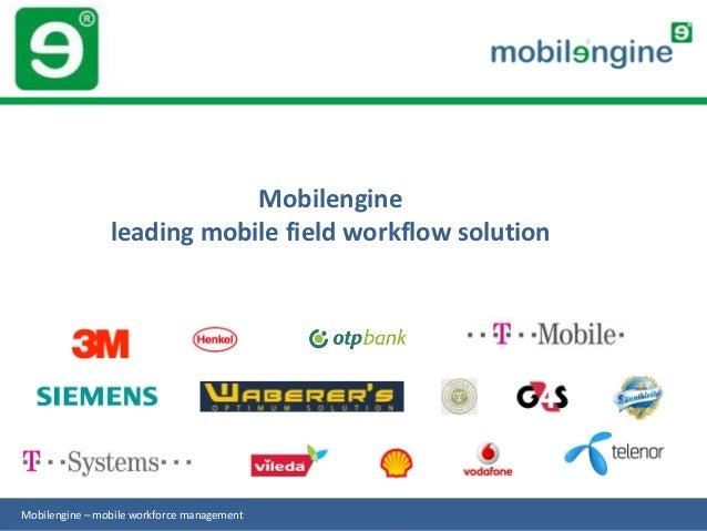 Mobilengine                leading mobile field workflow solutionMobilengine – mobile workforce management
