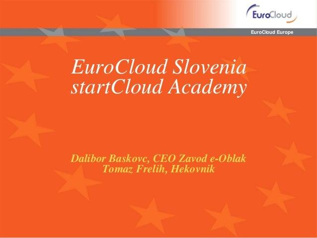 EuroCloud EuropeEuroCloud SloveniastartCloud AcademyDalibor Baskovc, CEO Zavod e-Oblak      Tomaz Frelih, Hekovnik