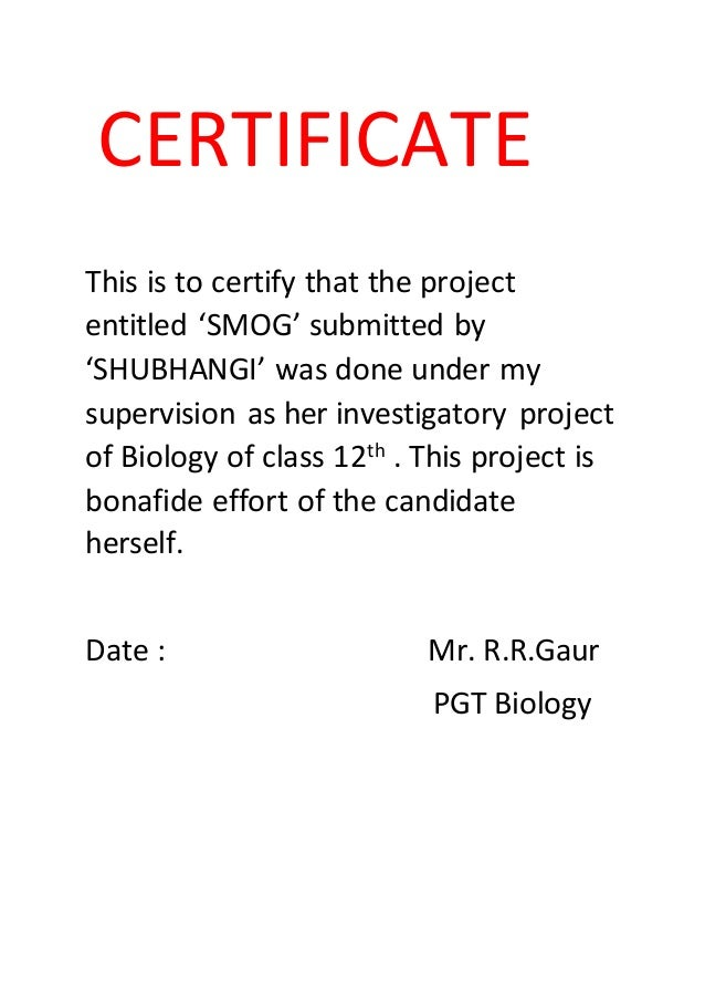 Biology investigatory project class 12 4 solutioingenieria Image collections
