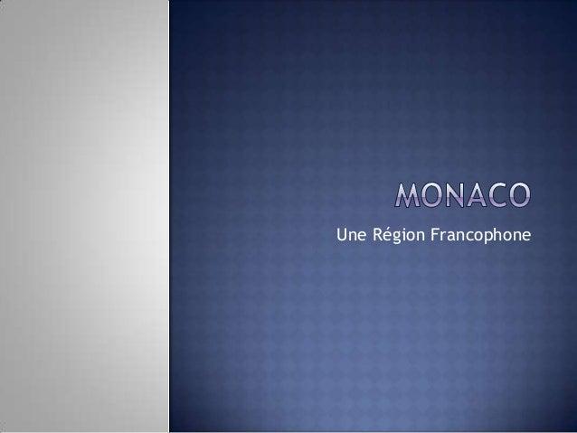 Une Région Francophone