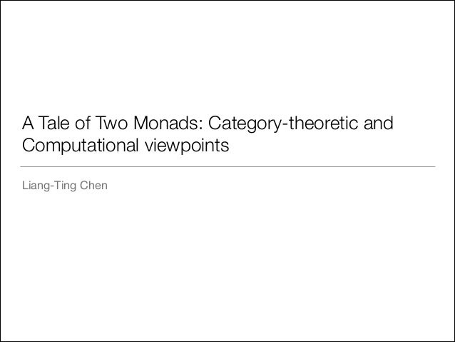 A Tale of Two Monads: Category-theoretic and Computational viewpoints Liang-Ting Chen