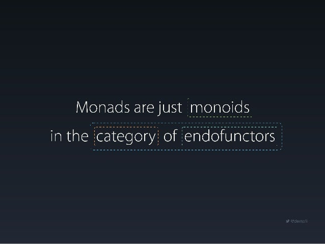 Monads are just monoids in the category of endofunctors - Ike Kurghinyan Slide 3