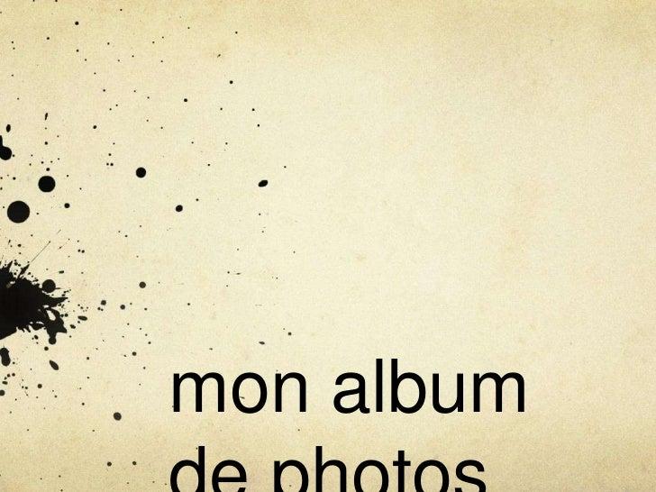 mon album
