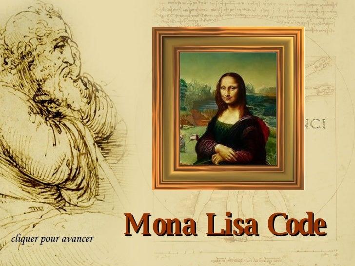 Mona Lisa Code cliquer pour avancer