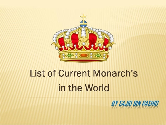 A list of current monarch's in the world